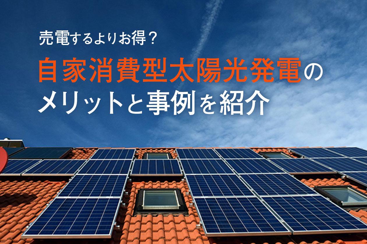 自家消費型太陽光発電のメリットと事例を紹介【売電するよりお得?】