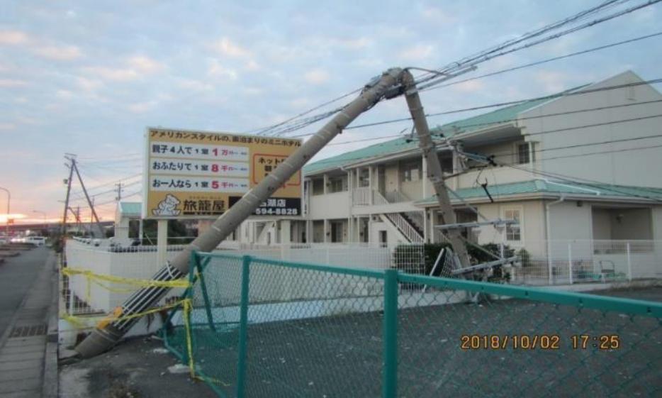 台風24号/2018年9月