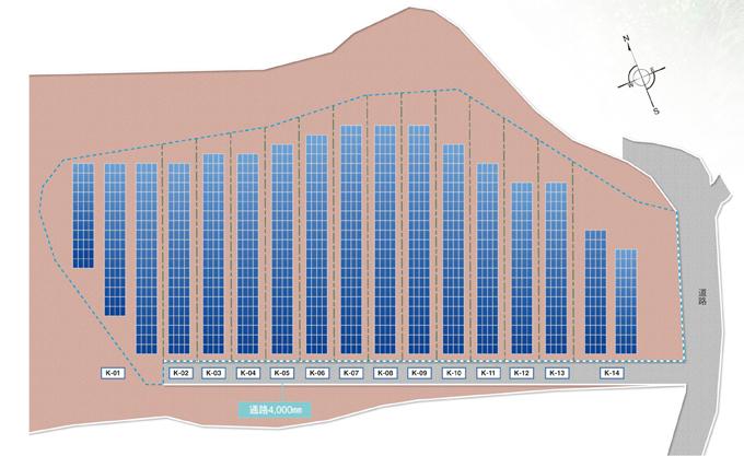 分譲型太陽光発電のレイアウト
