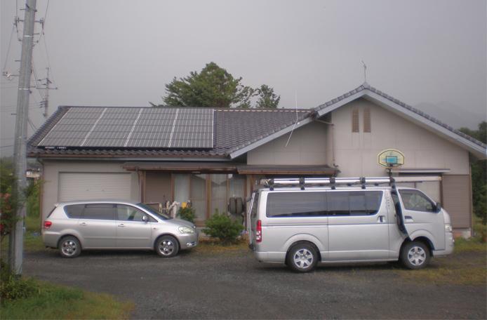 導入事例 1 岡山県勝田郡M様邸 三菱太陽光発電4.8kw