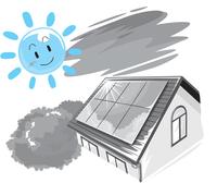 イラスト:太陽光発電システム